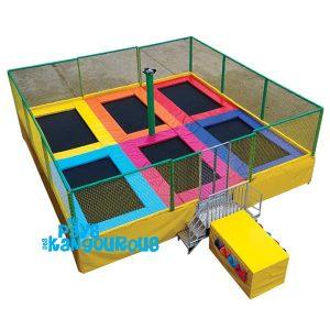 Trampomobile 6 trampolines à louer